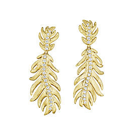 18K Gold Phoenix Medium Center Pave Earrings