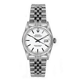 Rolex Datejust 6827 White Index Dial 31mm Women's Watch