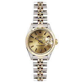 Rolex Women's Datejust Two Tone Fluted Champagne Index Dial 26 mm Women's Watch
