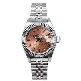 Rolex Women's Datejust Stainless Steel Custom Pink Index Dial