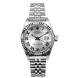 Rolex Women's Datejust Stainless Steel Silver Roman Dial 26 mm Women's Watch