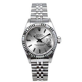 Rolex Women's Datejust Stainless Steel Silver Index Dial 26 mm Women's Watch