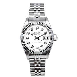 Rolex Datejust 69174 White Diamond Dial 26mm Women's Watch