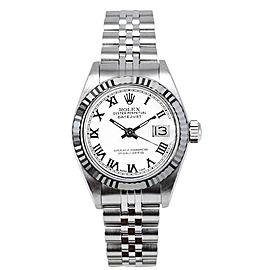Rolex Datejust 6917 White Roman Dial 26mm Women's Watch