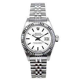 Rolex Women's Datejust Stainless Steel White Index Dial 26 mm Women's Watch