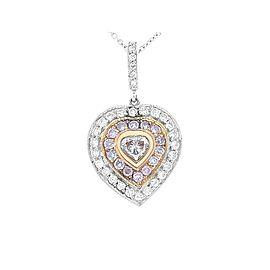 0.20 Carat Natural Pink Heart Shaped Diamond Pendant