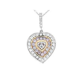 0.20 Carat Natural Pink Heart Shaped Diamond Pendant