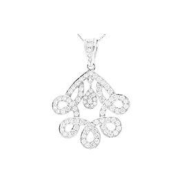 1.70 Carat Total F VS Diamond Pendant in 18 Karat White Gold