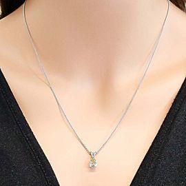 Pendants Solitaire 14k WG Center Stone: Diamond Pear 1.04ct Golden Yellow VS2