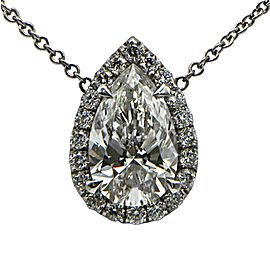 Sea Wave Diamonds 14k White Gold G SI2 1.01CT Diamond Necklace