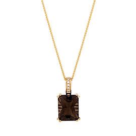 Smoky Quartz Diamond Pendant