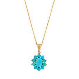 14k Turquoise Pendant