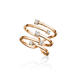 Piece Stick Ring with Diamond