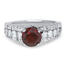 Round Garnet Vintage Ring