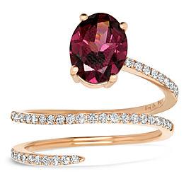 Rhodalite Garnet Wrap Ring