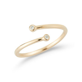 Yellow Gold Lulu Jack Open Bezel Ring