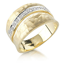 I.Reiss 14K Yellow Gold 0.18 Diamond Ring Size 7