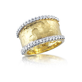I.Reiss 14K Yellow Gold 0.43 Diamond Ring Size 7