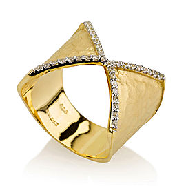 I.Reiss 14K Yellow Gold 0.2 Ring Size 7