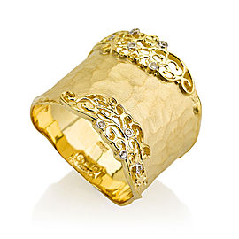 I.Reiss Matte And Hammer-Finish Filigree Cigar Ring