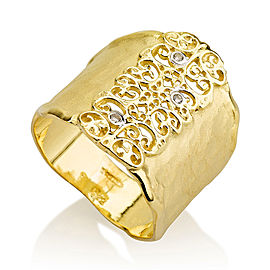 I.Reiss 14K Yellow Gold 0.03 Ring Size 7