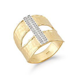 I.Reiss 14K Yellow Gold 0.16 Ring Size 7