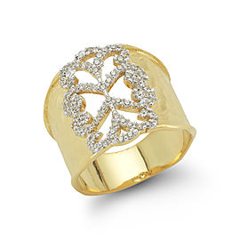 I.Reiss 14K Yellow Gold 0.43 Ring Size 7