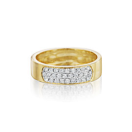 Yellow Gold Diamond Sectional Band Ring