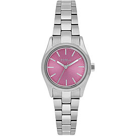 Furla Women's Eva Pink Dial Stainless steel Watch