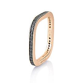 GINETTE NY 18K Rose Gold Black Diamond Tv Ring