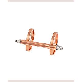 TZURI Rose Gold Double Ring