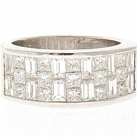 2.25 Carat Total Princess Cut Diamond Cocktail Ring in 18 Karat White Gold