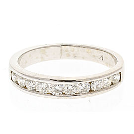 Ring 14KW, 0.57ctw BR Channel Set Wedding Band