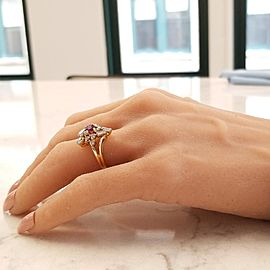 Ring 14KY, Ruby .64 TW DAI .40 RUBY
