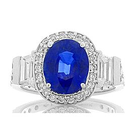 3.04 Carat Ceylon Blue Sapphire and Diamonds Cocktail Ring in 14 Karat Gold