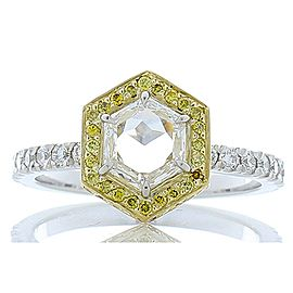 1.01 Carat Fancy Cut Diamond and Fancy Yellow Diamond Two-Tone Cocktail Ring