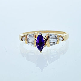 Ring 14KY, Amethyst 0.40CT AME, 0.42CTW BAG