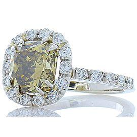 3.37 carat cushion ring