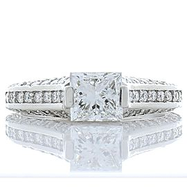 1.00 Carat Princess Cut VVV2 Diamond Cocktail Ring in Platinum
