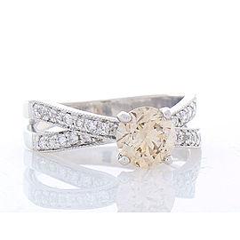 1.14 Carat Fancy Light Champagne Diamond Cocktail Ring in 18 Karat White Gold