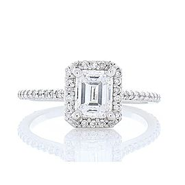 GIA Certified 1.04 Carat Emerald Cut Diamond Cocktail Ring in Platinum