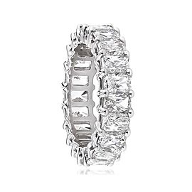7.30 Carat Total Radiant Cut Diamond Eternity Wedding Band in Platinum