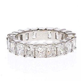 5.01 Carat Total Radiant Cut Diamond Eternity Wedding Band in Platinum