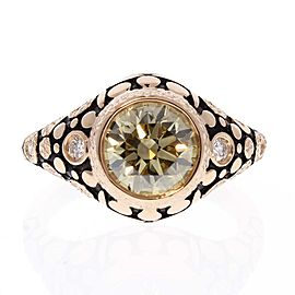 GIA Certified 2.01 Carat Natural Fancy Brownish Yellow Diamonds Cocktail Ring