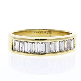 2.00 Carat Total Baguette Diamond Ring in 18 Karat Yellow Gold