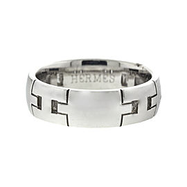 Hermes 18k White Gold H Ring