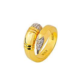 TZURI Yellow Gold Large Signature Ring