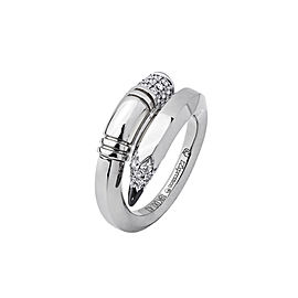 TZURI White Gold Medium Signature Ring