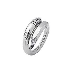 TZURI White Gold Medium Signature Ring
