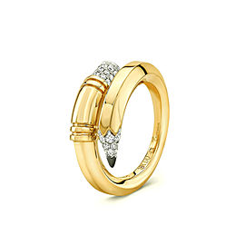 TZURI Yellow Gold Medium Signature Ring